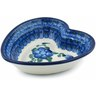 6-inch Stoneware Heart Shaped Bowl - Polmedia Polish Pottery H2667A