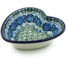 6-inch Stoneware Heart Shaped Bowl - Polmedia Polish Pottery H2678A