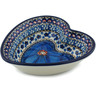 6-inch Stoneware Heart Shaped Bowl - Polmedia Polish Pottery H2800C