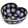 6-inch Stoneware Heart Shaped Bowl - Polmedia Polish Pottery H2827K