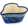 6-inch Stoneware Heart Shaped Bowl - Polmedia Polish Pottery H2862C
