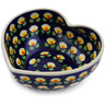 6-inch Stoneware Heart Shaped Bowl - Polmedia Polish Pottery H2888K