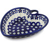 6-inch Stoneware Heart Shaped Bowl - Polmedia Polish Pottery H2996B