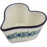 6-inch Stoneware Heart Shaped Bowl - Polmedia Polish Pottery H3363A