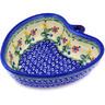 6-inch Stoneware Heart Shaped Bowl - Polmedia Polish Pottery H3765E