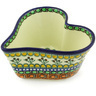 6-inch Stoneware Heart Shaped Bowl - Polmedia Polish Pottery H3794G