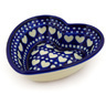 6-inch Stoneware Heart Shaped Bowl - Polmedia Polish Pottery H4129D