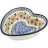 6-inch Stoneware Heart Shaped Bowl - Polmedia Polish Pottery H4377B