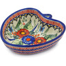 6-inch Stoneware Heart Shaped Bowl - Polmedia Polish Pottery H4748K