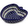 6-inch Stoneware Heart Shaped Bowl - Polmedia Polish Pottery H4789K