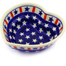 6-inch Stoneware Heart Shaped Bowl - Polmedia Polish Pottery H4900E