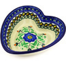 6-inch Stoneware Heart Shaped Bowl - Polmedia Polish Pottery H6291F