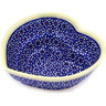 6-inch Stoneware Heart Shaped Bowl - Polmedia Polish Pottery H6577C