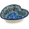 6-inch Stoneware Heart Shaped Bowl - Polmedia Polish Pottery H7291J