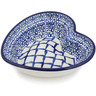6-inch Stoneware Heart Shaped Bowl - Polmedia Polish Pottery H8458K