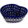6-inch Stoneware Heart Shaped Bowl - Polmedia Polish Pottery H9796C