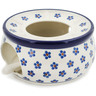 6-inch Stoneware Heater with Candle Holder - Polmedia Polish Pottery H8535K
