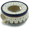 6-inch Stoneware Heater with Candle Holder - Polmedia Polish Pottery H8626A