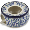 6-inch Stoneware Heater with Candle Holder - Polmedia Polish Pottery H9059K