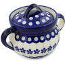6-inch Stoneware Jar with Lid and Handles - Polmedia Polish Pottery H1390L