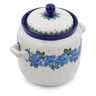 6-inch Stoneware Jar with Lid and Handles - Polmedia Polish Pottery H2848J
