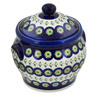 6-inch Stoneware Jar with Lid and Handles - Polmedia Polish Pottery H4322E