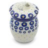 6-inch Stoneware Jar with Lid - Polmedia Polish Pottery H0325J