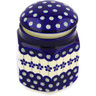 6-inch Stoneware Jar with Lid - Polmedia Polish Pottery H0488A