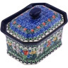 6-inch Stoneware Jar with Lid - Polmedia Polish Pottery H0538G