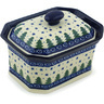 6-inch Stoneware Jar with Lid - Polmedia Polish Pottery H2271H