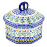 6-inch Stoneware Jar with Lid - Polmedia Polish Pottery H3094A