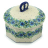 6-inch Stoneware Jar with Lid - Polmedia Polish Pottery H3096A