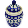 6-inch Stoneware Jar with Lid - Polmedia Polish Pottery H3099E