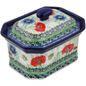 6-inch Stoneware Jar with Lid - Polmedia Polish Pottery H3284L