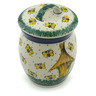 6-inch Stoneware Jar with Lid - Polmedia Polish Pottery H3367I