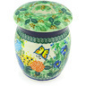 6-inch Stoneware Jar with Lid - Polmedia Polish Pottery H4415G