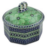 6-inch Stoneware Jar with Lid - Polmedia Polish Pottery H4975K