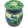 6-inch Stoneware Jar with Lid - Polmedia Polish Pottery H5007G