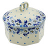 6-inch Stoneware Jar with Lid - Polmedia Polish Pottery H6218K