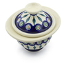 6-inch Stoneware Jar with Lid - Polmedia Polish Pottery H6293J