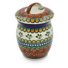 6-inch Stoneware Jar with Lid - Polmedia Polish Pottery H6316A