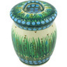 6-inch Stoneware Jar with Lid - Polmedia Polish Pottery H6346G