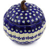6-inch Stoneware Jar with Lid - Polmedia Polish Pottery H7365E