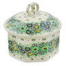 6-inch Stoneware Jar with Lid - Polmedia Polish Pottery H7421J