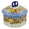 6-inch Stoneware Jar with Lid - Polmedia Polish Pottery H7424J