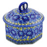 6-inch Stoneware Jar with Lid - Polmedia Polish Pottery H7427J