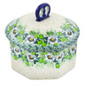 6-inch Stoneware Jar with Lid - Polmedia Polish Pottery H7428J