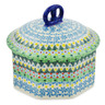 6-inch Stoneware Jar with Lid - Polmedia Polish Pottery H7429J