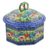 6-inch Stoneware Jar with Lid - Polmedia Polish Pottery H7435J
