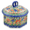 6-inch Stoneware Jar with Lid - Polmedia Polish Pottery H7437J